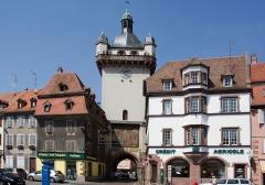 Tour dite Tour Neuve ou Tour de l'Horloge -  Sélestat, Bas-Rhin, Alsace, France.