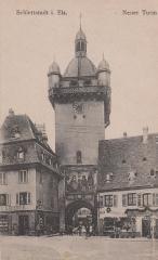 Tour dite Tour Neuve ou Tour de l'Horloge - Français:   ancienne carte postale de Sélestat