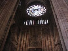 Cathédrale Notre-Dame - Alsace, Bas-Rhin, Cathédrale Notre-Dame de Strasbourg (PA00085015). -Portail et rosace