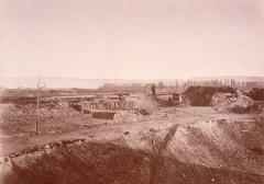 Citadelle et abords - Bastion 19 (vers Kehl) de la citadelle de Strasbourg en 1874.