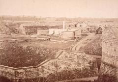 Citadelle et abords - Ouvrage 73/74 (vers Kehl) de la citadelle de Strasbourg en 1874.
