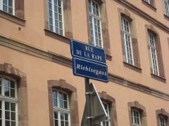 Lycée Fustel de Coulanges, ancien Collège des Jésuites -  Rue de la Râpe, à Strasbourg