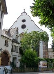 Eglise protestante Sainte-Aurélie - Français:   Mur-pignon de l\'église Sainte-Aurélie de Strasbourg.