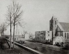 Eglise protestante Sainte-Aurélie - Français:   Siège de Strasbourg 1870: Eglise St Aurélie (Faubourg National). Bibliothèque nationale et universitaire de Strasbourg