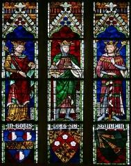 Eglise protestante Saint-Pierre-le-Jeune - Alsace, Bas-Rhin, Église protestante Saint-Pierre-le-Jeune de Strasbourg (PA00085030).  Verrière