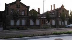 Gare ferroviaire centrale - Français:   La gare basse de Strasbourg, rue Wodli.