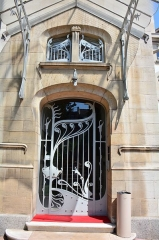 Ancien hôtel Schützenberger - English: Architectural detail of Villa Schutzenberger in Strasbourg, a former Art Nouveau residence no housing inter alia the European Audiovisual Observatory