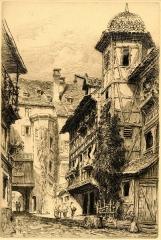 Cour du Corbeau ou Hôtel dit du Corbeau - French printmaker, drawer and painter