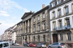 Ancien Hôtel du Commandant en chef d'Alsace (ancien Hôtel du Bourg), ancien Palais de Justice, puis Hôtel de Police ou ancien hôtel du Gouverneur militaire ou du Maréchal de Bourg -  11 rue de la Nuée Bleue, Strasbourg, Alsace, France