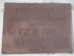 Maison - Français:   Plaque de la Fondation Goethe