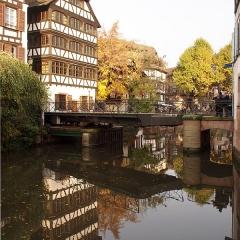 Maison - Deutsch: Pont du Faisan, Drehbrücke in Petite France in Straßburg