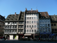 Immeubles -  Houses on Place de la Cathédrale, Strasbourg