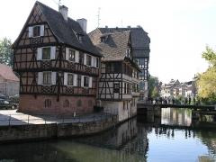 Immeuble - English: Petite france Straßburg, Maison de l'éclusier (XVIIIe-1950), 2 quai des moulins