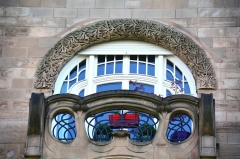 Immeuble - English: Art Nouveau balcony on a 1903 residential building in Strasbourg