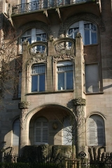 Immeuble - English: Detail of a 1903 Art Nouveau residential building in Strasbourg