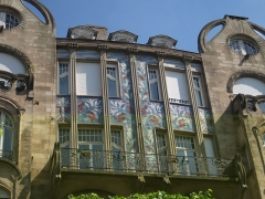Immeuble - English: Art Nouveau mosaic on a residential building in Strasbourg