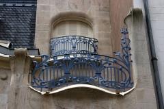 Hôtel Brion, puis pension de famille appelée Hôtel Marguerite - English: Art Nouveau balcony on a 1905 townhouse in Strasbourg