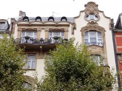 Immeuble - English: Art Nouveau architecture in Strasbourg