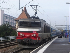 Poste d'aiguillage S.N.C.F. - Français:   BB15000 en Gare de Krimmeri-Meinau, lors de la fermeture de la gare de Strasbourg pour la mise en service du Poste d\'Aiguillages Informatisé (PAI)