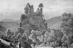 Ruines du château Bilstein - French painter and lithographer