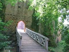 Ruines du château Wangenbourg -  Château de Wangenbourg (XIIIe siècle). Entrée principale