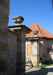 Ancienne Papeterie Pasquay -  entrée est (18e siècle) de l'ancienne papeterie puis briquetterie Pasquay à Wasselonne (Bas-Rhin) au lieu-dit la Papeterie.