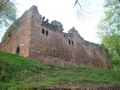 Ruines du château du Nouveau-Windstein - English: New-Windstein castle (Alsace - France)