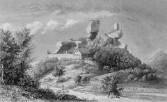 Ruines du château du Vieux-Windstein - Deutsch: Die Burgruine Altwindstein im Elsass
