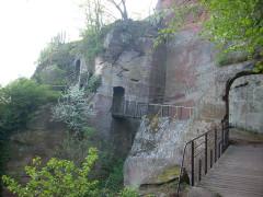 Ruines du château du Vieux-Windstein - English: Vieux-Windstein castle, Alsace