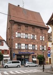 Ancienne Maison Bürgerhof - Deutsch: Bürgerhof/maison Holzapfel, 35 rue Nationale, Wissembourg