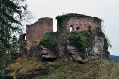 Château de Dreistein -  Une partie du Dreistein vue depuis l'autre morceau