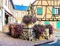 Fontaine dite de l'Ours - Français:   Fontaine de l\'Ours. Heiligenstein. Bas-Rhin.