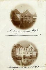 Anciennes glacières -  die Dünzenmühle in Straßburg vor und nach der Umwandlung zur Eisfabrik