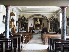 Eglise Saint-Gilles - Français:   Intérieur de l\'église Saint-Gilles de Hohmarth