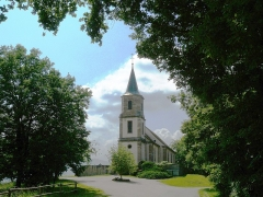 Eglise Saint-Gilles -  Église Saint-Gilles (Hohawrth) vue par l'arrière, Saint-Pierre-Bois