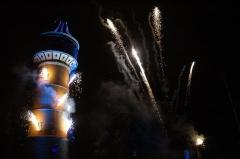 Château d'eau -  Spectacle pyrotechnique pour les 100 ans du chateau d'eau de Sélestat. Une réalisation de la société molecule (molecule-france)
