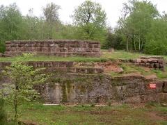 Château-fort du Warthenberg (Daubenschlagfelsen) (également sur commune de Dossenheim-sur-Zinsel) -  Château du Warthenberg (Rocher Daubenschlag) Vogesen_05_2004 027