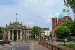 Palais de Justice - English: Strasbourg - Palais de Justice & St-Pierre le Jeune Catholique