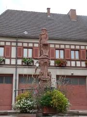 Fontaine de l'Homme Sauvage - Français:   Ammerschwihr (Haut-Rhin): fontaine de l\'Homme sauvage