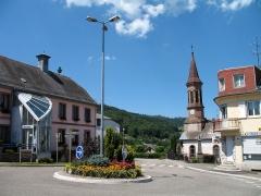 Eglise catholique Saint-Jacques-le-Majeur -  Église catholique Saint Jacques-le-Majeur d'Aubure; Near Geonames: Aubure Alsace France (Map link)
