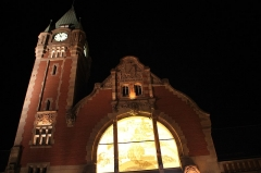 Gare centrale des voyageurs - English: Night in Colmar, France in August 2013.
