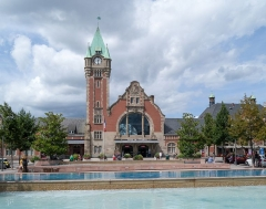 Gare centrale des voyageurs -  Colmar train station / France