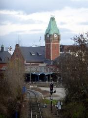 Gare centrale des voyageurs - Deutsch: Der Hauptbahnhof von Colmar, von Südwesten gesehen.