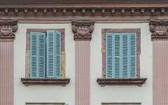 Maison - English: Window of the building at 4 rue des Boulangers in Colmar, Haut-Rhin, France