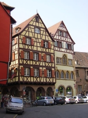Maison Adolphe -  Colmar, Alsace. On the right is Maison Adolphe, historical monument of France