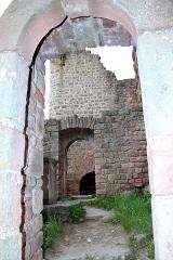 Ruines du château de Dagsbourg -  Le Dagsbourg le plus imposant des trois châteaux et le moins ancien