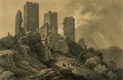 Ruines du château de Dagsbourg - French painter and lithographer