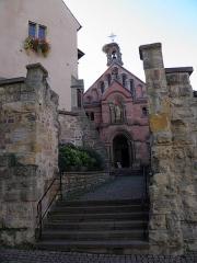 Ancien château impérial dit de Saint-Léon-Pfalz, ancien château des évêques de Strasbourg - Chapelle Saint-Léon à Eguisheim (Haut-Rhin, France).
