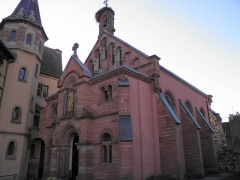 Ancien château impérial dit de Saint-Léon-Pfalz, ancien château des évêques de Strasbourg - Français:   Chapelle Saint-Léon à Eguisheim (Haut-Rhin, France).