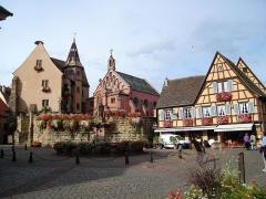 Ancien château impérial dit de Saint-Léon-Pfalz, ancien château des évêques de Strasbourg -  EGUISHEIM